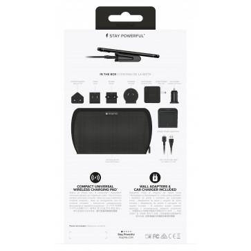 Mophie Travel Kit Reiseset, mit 5 AC Adapter, schwarz