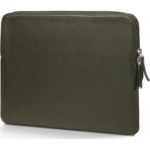 """Trunk Leder Sleeve 13"""" MacBook Pro und MacBook Air (2016-2020) grün"""