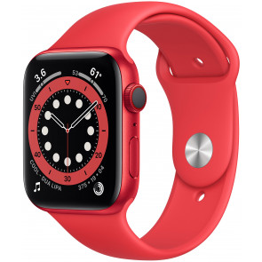 Apple Watch Series 6 GPS+Cell, 44mm Alu Rot, Sportarmband PRODUCT (Red)
