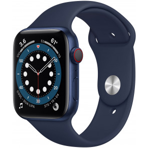 Apple Watch Series 6 GPS+Cell, 44mm Alu Blau, Sportarmband Dunkelmarine