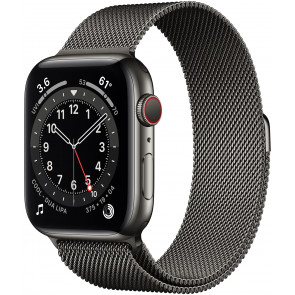 Apple Watch Series 6 GPS+Cell, 40mm Edelstahl Graphite, Loop Milanaise Graphite