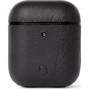 Dual Leder Case für Apple AirPods, schwarz, Decoded
