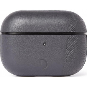 Dual Leder Case für Apple AirPods Pro, grau, Decoded