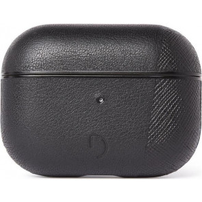 Dual Leder Case für Apple AirPods Pro, schwarz, Decoded