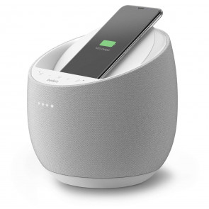 Belkin SoundForm Elite Hi-Fi Smart Speaker + 10W Qi Charger, weiss