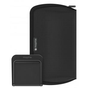 Mophie Travel Kit QI Reiseset, mit 5 AC Adapter, schwarz
