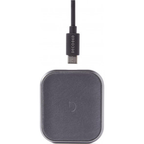 FastPad mini, 5W Leder Wireless Charger, Leder, Braun, Decoded