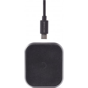 FastPad mini, 5W Leder Wireless Charger, Leder, Schwarz, Decoded
