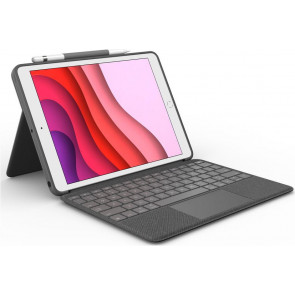 "Logitech Combo Touch Keyboard Case mit Trackpad, 10.2"" iPad (2019/2020), DE-Tastatur, Carbon schwarz"