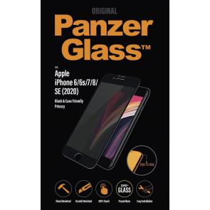"Panzerglass Displayschutz, Privacy, iPhone SE/8/7/6s/6 (4.7""), schwarz, clear"