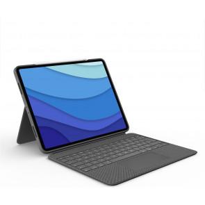 """Logitech Combo Touch, Keyboard Case für 12.9"""" iPad Pro (2021), DE-Tastatur, grau"""