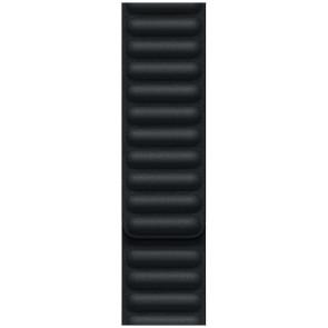Apple Lederarmband mit Endstück M/L für Apple Watch 42/44/45 mm, Mitternacht