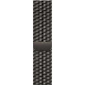 Milanaise Armband Edelstahl für Apple Watch 42/44/45 mm, graphit