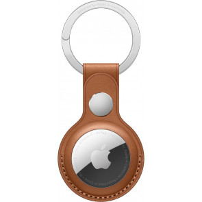 Schlüsselanhänger Leder für Apple AirTag, Sattelbraun