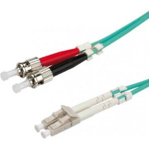 LWL Glasfaser Kabel, 2m, LC - ST, 50/125µ Duplex