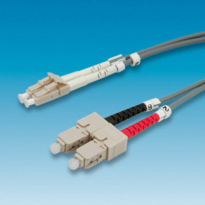 LWL Duplex Patchkabel Kabel 2m, LC 9 - SC, 50/125 µm