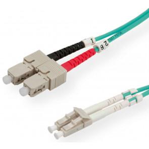 LWL Glasfaser Kabel, 2m, LC - SC, 50/125µ Duplex, OM3
