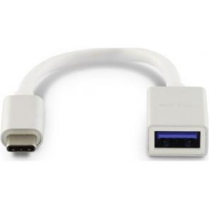 LMP USB-C  zu USB-A Adapter, 15cm, silber