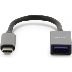 LMP USB-C  zu USB-A Adapter, 15cm, spacegrau
