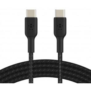 Belkin USB-C auf USB-C Kabel, ummantelt, 1m, schwarz