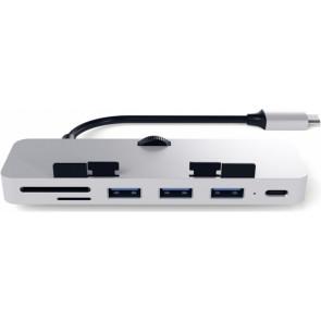 USB-Hub Satechi Type-C Clamp Hub Pro, silver, alu, Satechi