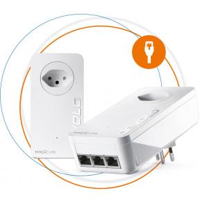 devolo, Magic 2 LAN triple Starter Kit, Powerline Adapter, weiss