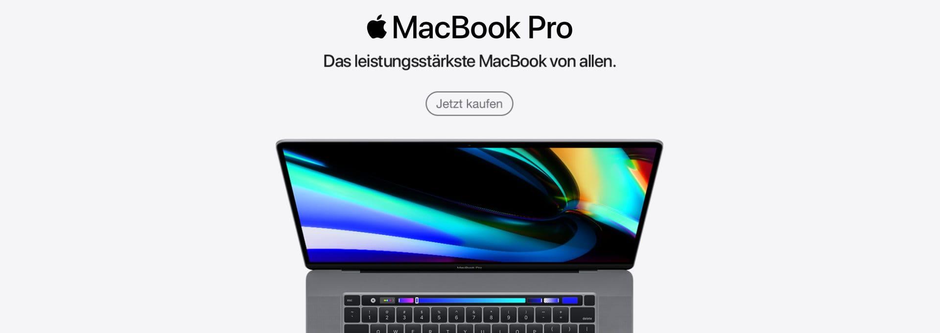 Jetzt Apple MacBook Pro kaufen